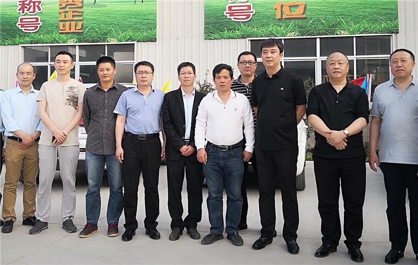 2018年4月,吉林省辽源市龙山区副区长钟亚辉(右三)一行莅临我司参观考察